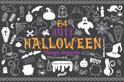 Halloween Doodle Vector clipart