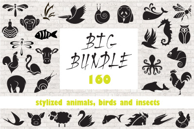 Logo animals, birds and insects.