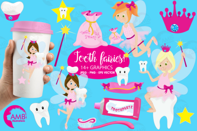 Toothfairy clipart, graphics and illustrations AMB-930