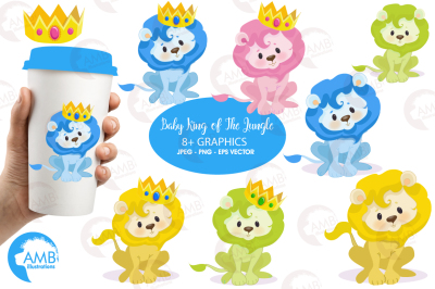 Baby lion nursery clipart, graphics, illustrations AMB-950