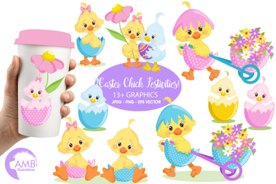 Easter Chicks clipart, graphics, illustrations AMB-1201