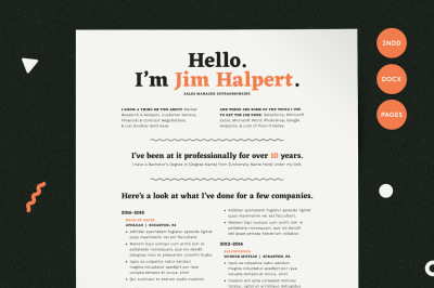 Resume Template | Modern Resume | Resume PDF | CV Template | Resume for Mac | Resume Pages | Resume Word | Resume InDesign