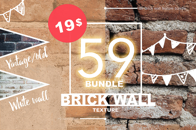 59 Brick wall texture bundle 01