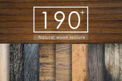 190+ Nutural Wood Texture set