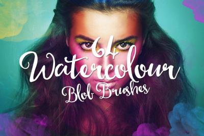 64 Watercolour Blob Brushes
