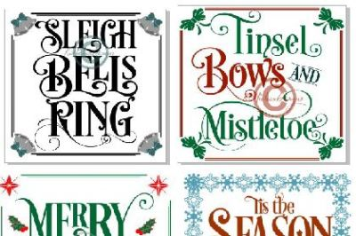Christmas Sign Svg, Glass Block Svg, Christmas Bundle Svg, Eps, Dxf