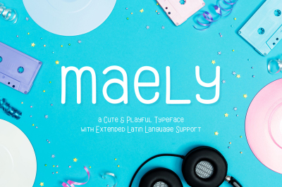 Maely | A Cute & Playful Typeface