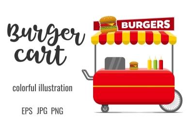 Burgers street food cart