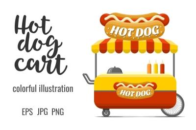 Hot dog street food cart