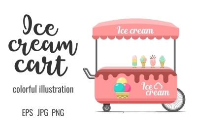 Ice cream street food cart