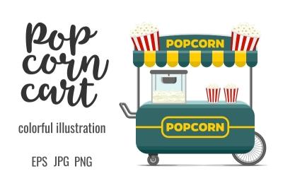 Popcorn street food cart