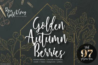 Gold Autumn Berries - elegant wedding kit