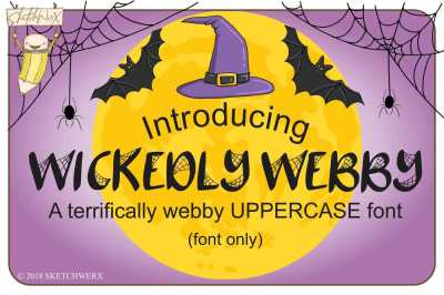 Wickedly Webby Uppercase Font