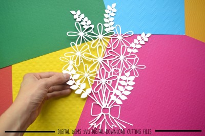 Flower Paper Cut SVG / DXF / EPS Files