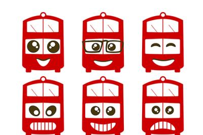 Emoji transport bus face