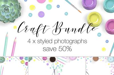 Craft Supplies Stock Photography Bundle