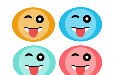 Faces icons smile