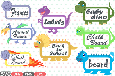 Dinosaur Chalk board Frames SVG Dino Chalkboard Frames Digital Download Borders Labels Party Cutting File svg eps png jpg Vinyl sale 216aS