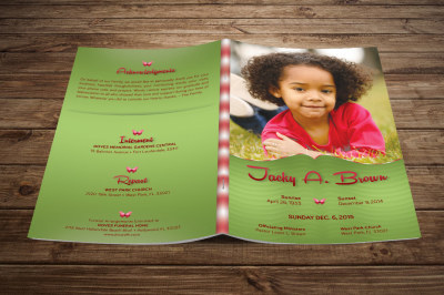 Child Funeral Program Template