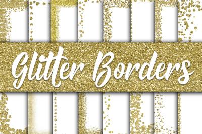 Gold Glitter Borders Digital Paper