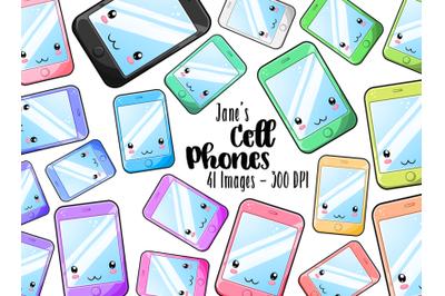 Kawaii Cell Phone Clipart