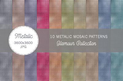 10 Glamorous Metalic Mosaic Textures