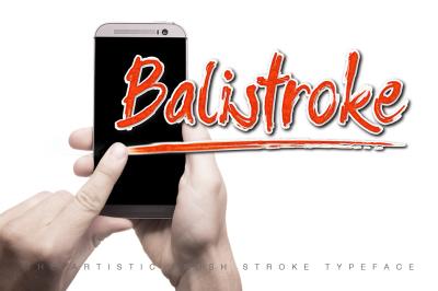 Balistroke Font