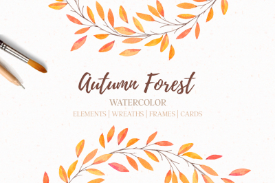 Autumn forest | Watercolor | Fall