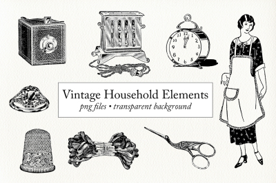 Vintage Household Clipart