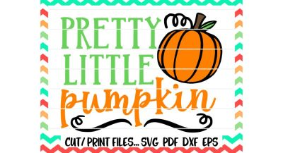 Pretty little Pumpkin/Fall Pumpkin Svg/Halloween/Thanksgiving/Printable Pdf/Cut and Print Files/Silhouette Cameo/Cricut & More.