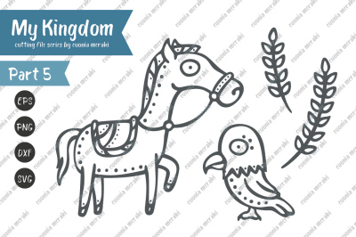 Cute Horse and eagle - cutting file - cricut and silhouette