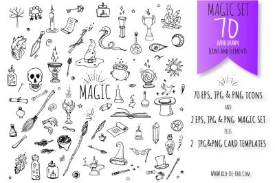 70 Magic hand drawn symbols!