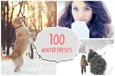 100 Winter Presets Collection Set - Lightroom Presets