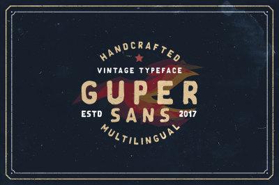 Guper Sans - Handcrafted Font