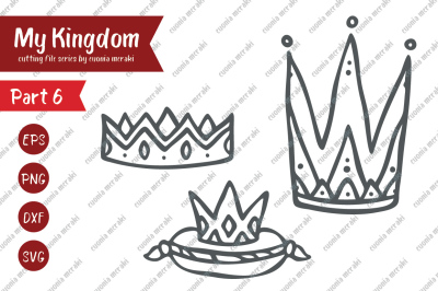 Crown - king & queen, prince & princess - cutting file