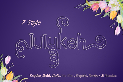 Julykeh handmade 7 Style Font