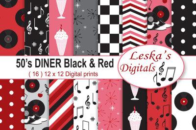 Retro 50's Diner Digital Paper