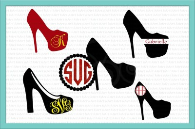 high heel svg, high heel monogram svg, high heels svg, bundle svg, high heel clipart, woman shoe svg, monogram svg, high heel silhouette dxf