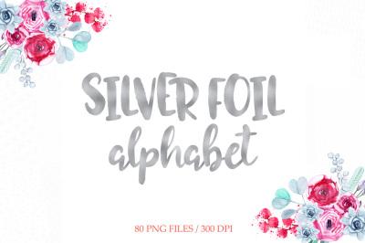 Silver Foil Alphabet