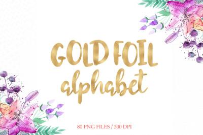 Gold Foil Alphabet