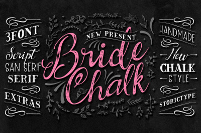BrideChalk Typeface with Extras