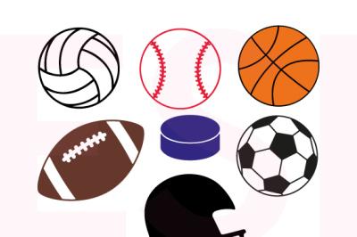 Sports Designs Set - SVG, DXF, EPS