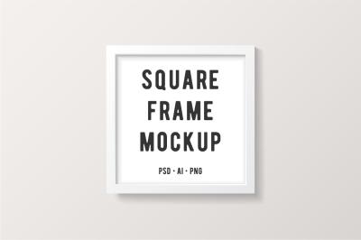 White Square Frame Mockup
