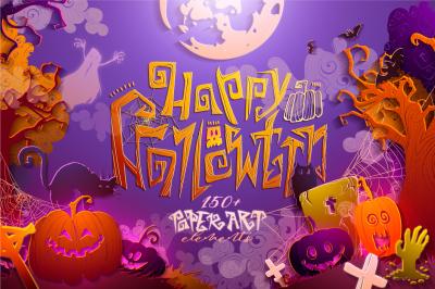 Happy Halloween! - Paper art style