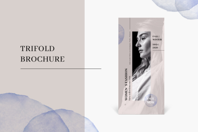 Trifold fashion brochure