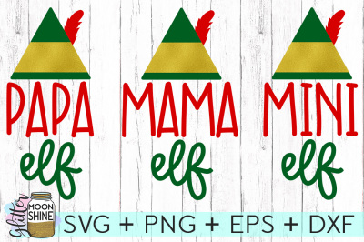 Elf Family Bundle SVG PNG DXF EPS Cutting Files
