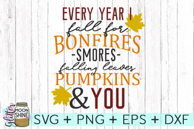 Every Year I Fall For You SVG PNG DXF EPS Cutting Files