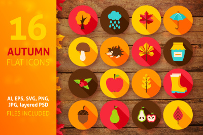 Autumn Flat Icons