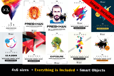 10 Futuristic Flyers Bundle