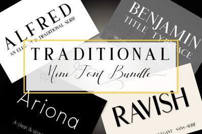 Traditional Mini Font Bundle